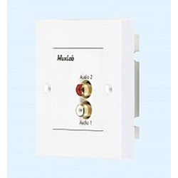 Stereo HI-FI Wall balun, UK Muxlab/500028-WP-UK