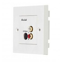 S-Video / HI-FI wall balun, UK Muxlab/500038-WP-UK
