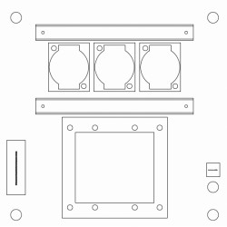 Plates Percon WB50-3XLR-1TS