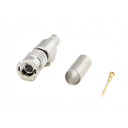BNC - HD (High Density) 75 ohms (UHD-1 / 4K) Conector PERCON 5282-HD/SILVER+ Male