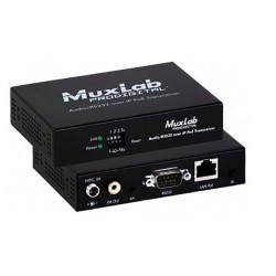 Audio / RS232 Over IP POE transceiver Muxlab/500755