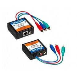 Component video / stereo audio balun 2 Packs Muxlab/500058-2PK